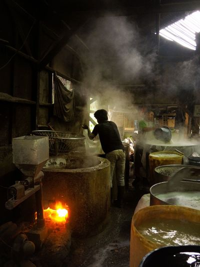 tofu Factory Occupation Men Heat - Temperature Working Factory