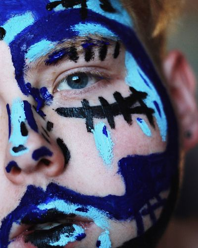 justice Human Face Young Adult Lifestyles Looking At Camera Art And Craft Real People Indoors  Face Paint