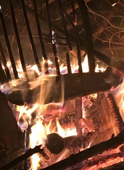 Close-up of campfire