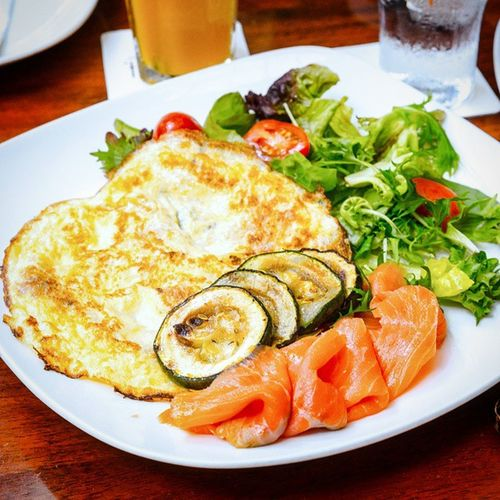 Oh! What is this? A Rosti Omelette! One of the main breakfast item! Very filling but rather oily. Burpple Brozeitsg Rostiomelette Germanrestaurant 313