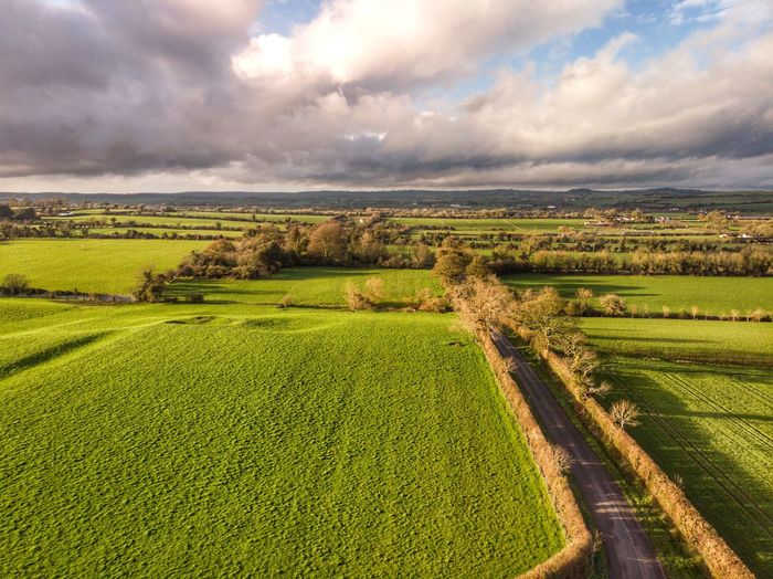 Laugher fields from above Drone Photograph DJI X Eyeem DJI Mavic Air Newgrange Cloud - Sky Landscape Sky Environment Plant Rural Scene Field Nature Farm Tranquility Green Color Tranquil Scene Day Growth No People Crop  Agriculture Beauty In Nature Scenics - Nature Land