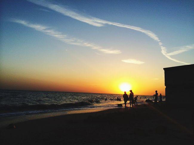 Sunset Silhouettes Enjoying Life