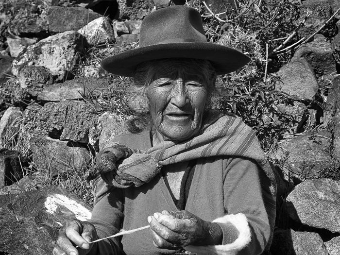 Blackandwhite Blackandwhite Photography Close-up Maya Old Old Lady Old Woman One Person Outdoors Peru Portrait Portrait Of A Woman Real People