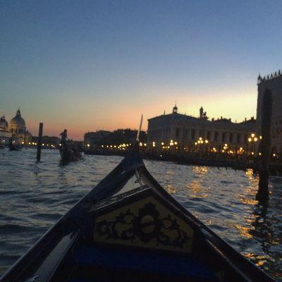 Italy Venice Venezia Gondola Nightview Voyage Travel