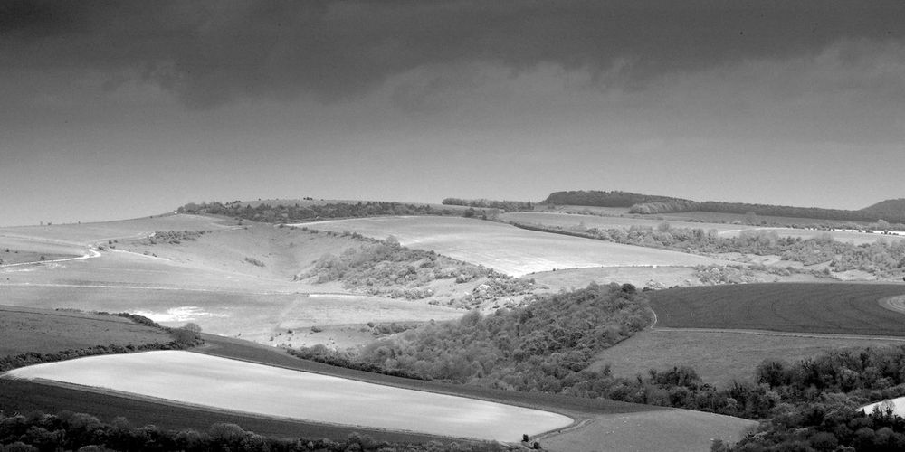 It's Higher Than It Looks Scenics - Nature Landscape Beauty In Nature Day Nature Tranquility Tranquil Scene Rolling Landscape South Downs Blackandwhite Black And White