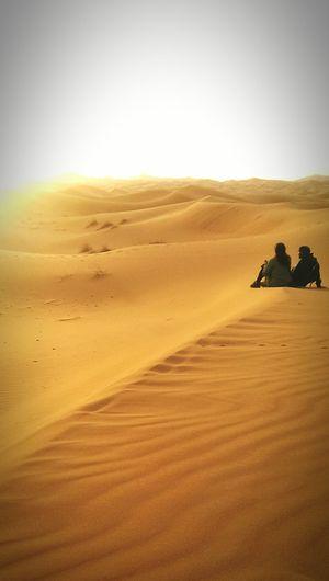 Sand Dune Sand Desert Arid Climate Sky Sunlight Nature Landscape Beauty In Nature Outdoors Horizon Scenics Day Tire Track Sun No People Morocco Sand Dunes Sandy Sun Rise Couple