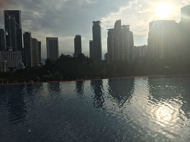 Not Selected For Market Sunlight Sunrise Poolside Kuala Lumpur Skyline Reflection Shadows & Lights Shadow The Graphic City Adventures In The City