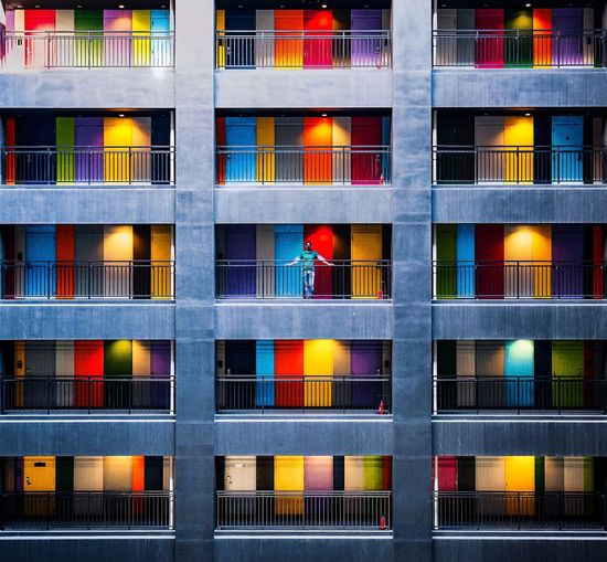 Architecture Window Building Exterior Built Structure No People Building Full Frame Backgrounds Pattern Day Multi Colored Glass - Material Fence Outdoors Boundary Barrier City Side By Side Design Shape The Architect - 2019 EyeEm Awards