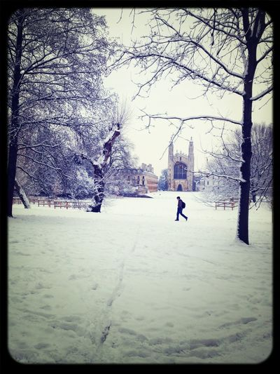Strolling Snow King's College Beautiful