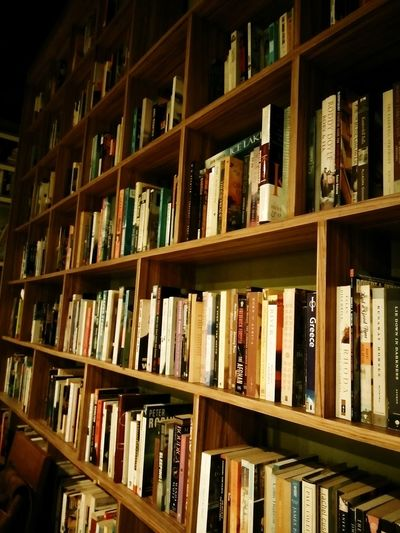 Book Shelf Bookshelf Library Indoors  Large Group Of Objects In A Row Abundance Bookstore Wood - Material No People Literature Arrangement Stack Education Day