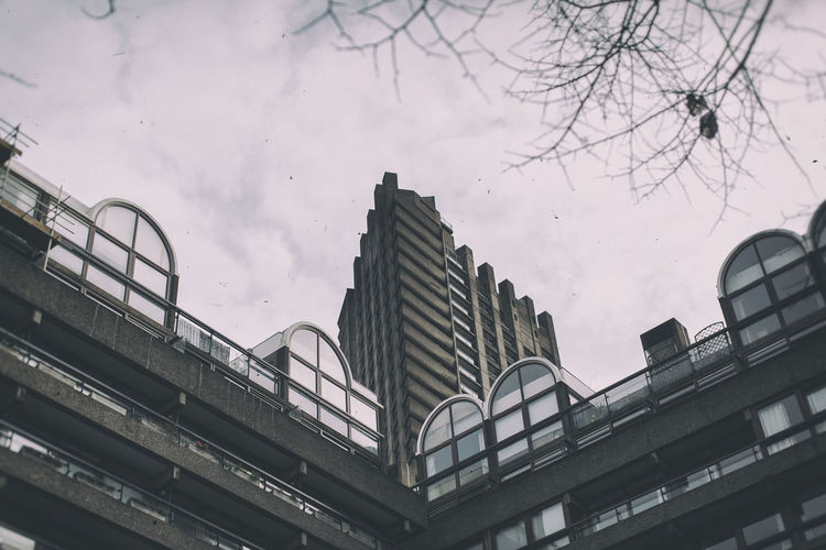 Architecture Barbican Barbican Centre Building Exterior Built Structure City Cloud Cloudy Exploring EyeEm Best Shots EyeEm Gallery Gloomy Day London Modern Outdoors Perspective Showcase March Tall - High Travel Urban Window