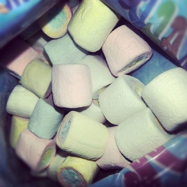 All mine for the whole afternoon ü Marshmallow Sweet Spongy  Lovely colourful snacks treat