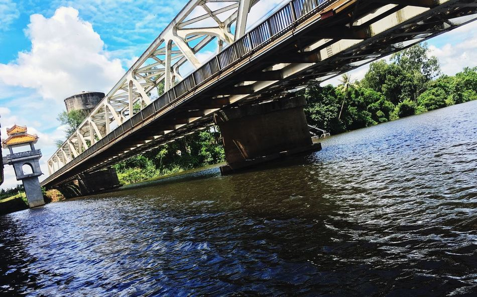 Truong Tien Bridge Bridge Steel Structure  Metal Perfume River  River Trees And Sky Landscape EyeEm Nature Lover Relaxing Taking Photos Ancient Taking A Break Travel Huế Traveling Iphone6 Vacation Time Travel Destinations Beautiful Enjoying Life Vietnam