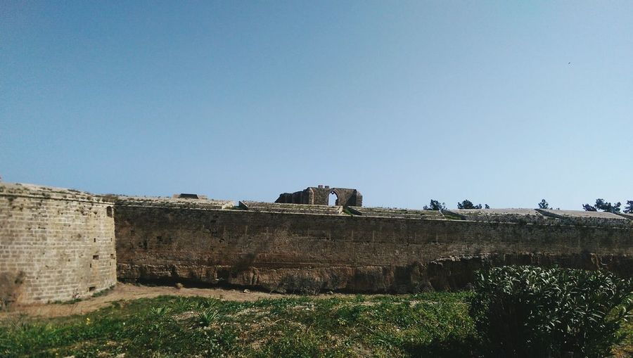 View of fort against clear sky