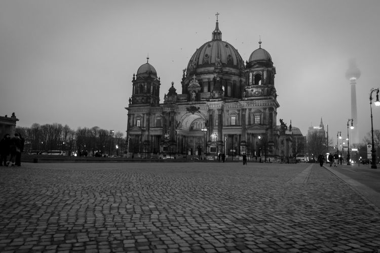 Berlin January 2018 Berlin Berlin Germany Architecture Building Exterior Built Structure City Day Dome History Illuminated No People Outdoors Place Of Worship Religion Sky Spirituality Tourism Travel Destinations