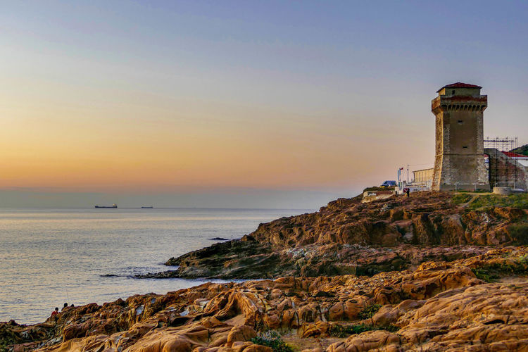 Lighthouse Sunset Architecture Nature Day Sea Outdoors Calafuria Romito Sky Tower Tranquility Travel Tuscany Tuscanygram Tuscany Landscape Tuscany Italy Tuscanymylove Tuscany View Thinking Scenics Beauty In Nature Mind  Cloud - Sky Time To Reflect