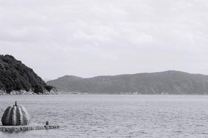 Japan EyeEm B&w Photography B&w Monochrome Blackandwhite Sea Seascape 草間彌生 瀬戸内国際芸術祭
