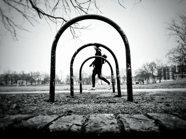 Nature Outdoors Real People Day Tranquility Sky People Adult 3XSPUnity One Person Walking Black And White Photography Parks