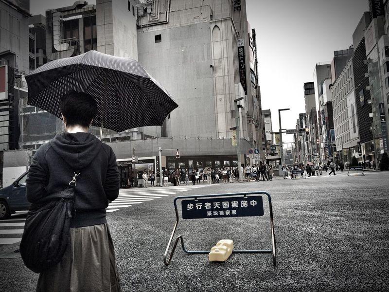 Raining Rain Ginza Helloworld Holliday Tokyo Japanese Culture Japan