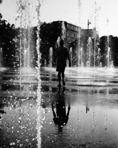 Water Splashing Drop Wet Spraying Motion Outdoors Refreshment Sprinkler Silhouette Day Men Real People One Person Sky Adults Only One Man Only People Splashing Droplet Bwcollection Bw_portraits Daylight Blackandwhite Black And White Photography EyEmNewHere The Street Photographer - 2017 EyeEm Awards Neighborhood Map BYOPaper! Live For The Story EyeEmNewHere The Street Photographer - 2017 EyeEm Awards Sommergefühle EyeEm Selects Mix Yourself A Good Time This Is Masculinity