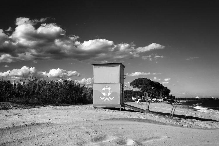 Sky Cloud - Sky Beach Land Nature Plant Sign Sea Sand