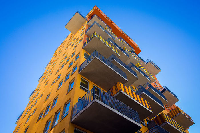 Colorful Munich Munich Munich, Germany Architecture Blue Building Exterior Built Structure Clear Sky Day Low Angle View Munich Architecture No People Outdoors Sky Yellow