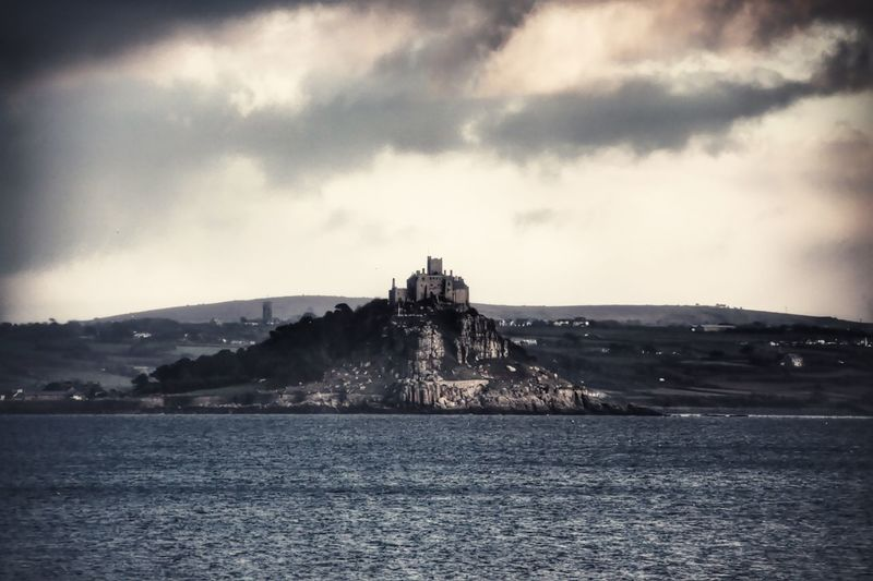 St Michaels Mount view from Penzance. Water Sky Sea Cloud - Sky Outdoors Day No People Scenics Built Structure History Building Exterior Cornwall Penzance  St Michaels Mount