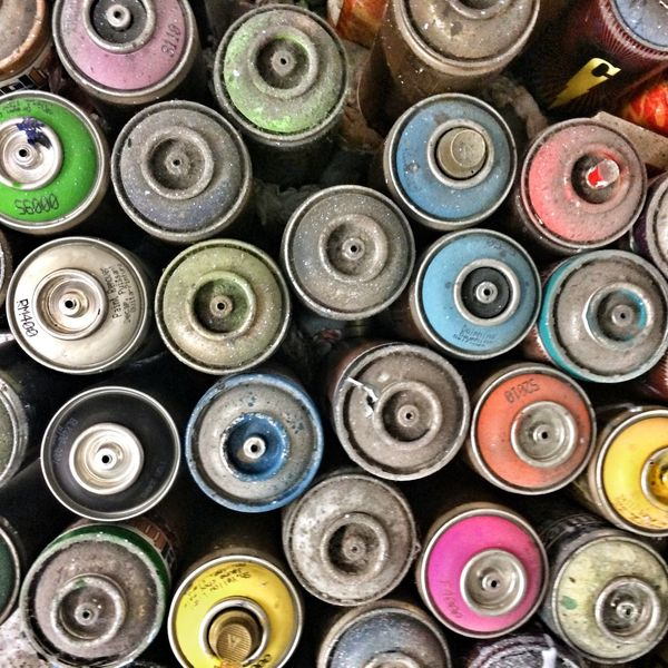 Aerosol Paint Spraypaint Graffiti Artist Tools Multi Colored Colourful Painting Art Grunge Pattern Backgrounds