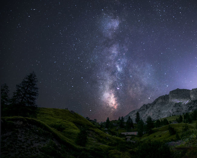 Star - Space Scenics - Nature Space Sky Beauty In Nature Night Tranquility Plant Tranquil Scene Astronomy Nature No People Tree Star Galaxy Star Field Landscape Environment Land Outdoors Milky Way Trentino Alto Adige Trentino  Dolomiti Dolomiti Italy