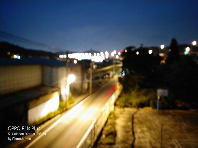 City Illuminated Defocused Cityscape Street Light Road Speed Motion Long Exposure Light Trail Highway Tail Light