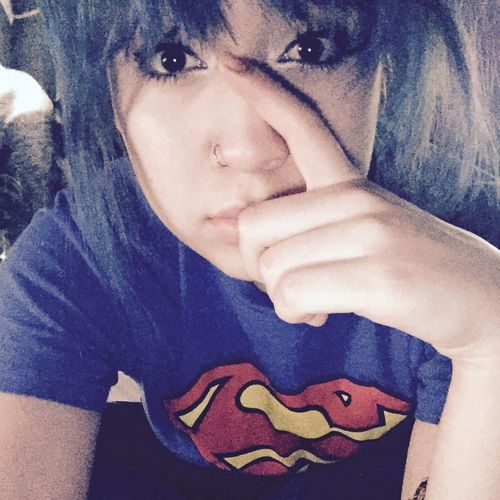 Blue Hair GoodvibesThat's Me Postiveminded Sassy