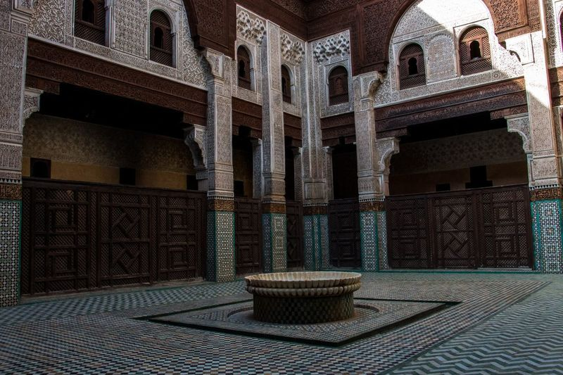Al madrassa Bounania | Meknes Monument Morocco Meknès Architecture History Built Structure No People The Past Architectural Column Art And Craft Craft EyeEmNewHere