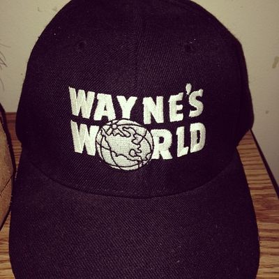 I don't wear this hat as often as I should. Waynesworld Partytime Excellent Party hat PartyOn