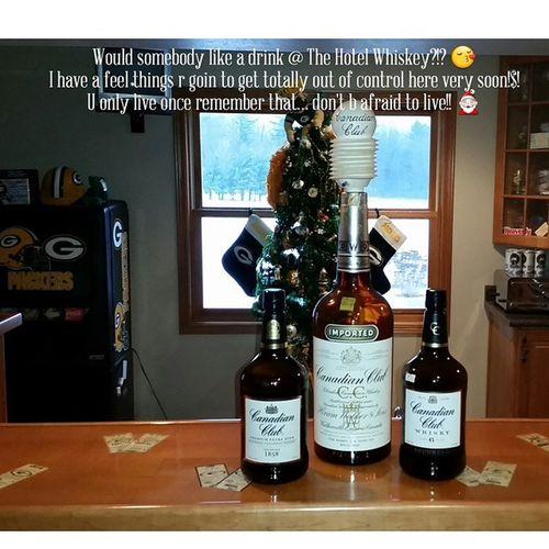 Would somebody like a X-mas drink?!? X -mas Bar Whiskey GreenbayPackers Dontbafraidtodowhatuwereborntodo