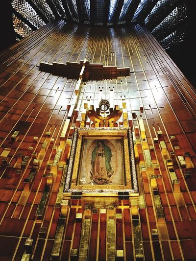Religion Place Of Worship Spirituality Indoors  Architecture Built Structure Low Angle View Travel Destinations No People Day Virgen De Guadalupe
