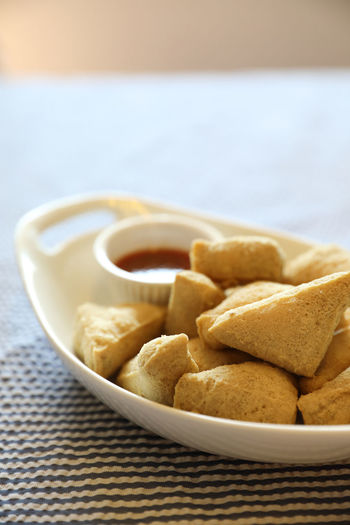 Fried Tofu Food Food And Drink Chinese Food Serving Size Asian Food Healthy Eating Ready-to-eat Still Life Snack