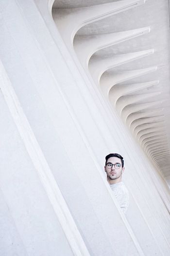 The Architect - 2017 EyeEm Awards The Portraitist - 2017 EyeEm Awards One Person Eyeglasses  Architecture Built Structure Outdoors Men Self Portrait EyeEm Best Shots The Week Of Eyeem Architecture Minimal Minimalism Minimalist Architecture Portrait Photography Portrait Architecture_collection Architectural Feature White Architecturelovers Minimalist Architectural Detail Architectural Column Architecturephotography