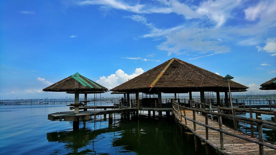 island cove kawit cavite Philippines Eyeem Philippines Blue Sky Horizon Over Water Seascape Photography Seascape Resort Water Blue Sea Beach Sky Architecture Calm Gazebo