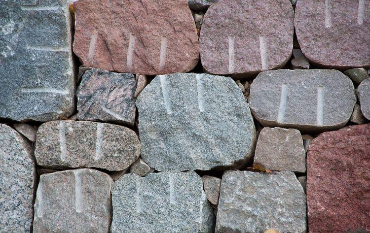 Garden Wall at Schloss Hohenzieritz Boulder Closeup Pattern Pieces