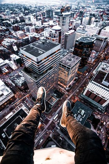 Out Of The Box from my rooftop mission on top of the tallest building in Portland. Architecture Skyscraper High Angle View Building Exterior Human Body Part Cityscape City Built Structure Outdoors One Person Day Building Urbanphotography Pdx The Architect - 2017 EyeEm Awards Portland Oregon EyeEm Best Shots Travel Destinations Urban The Architect - 2017 EyeEm Awards