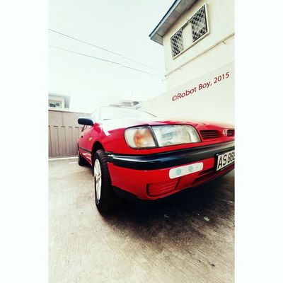 """The Red Nissan 🚘 Photo: Enoch """"Robot Boy"""" Appiah Jr (©2015) @kodilux pardon me, just couldn't resist taking a shot of your car in this view. AndroidPhotography Panaroma Nissan Car Ghana360 Ghana KumasiInsta Kumasi Red HDR"""
