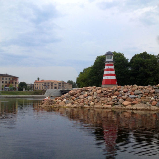 Calm Lighthouse Outdoors River Sky Water Waterfront Here Belongs To Me