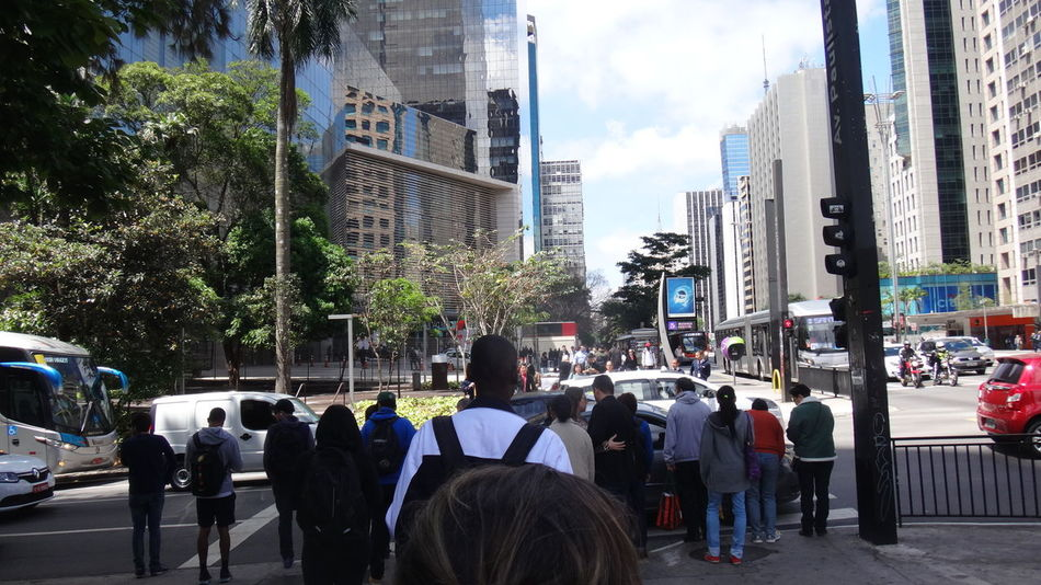 SAO PAULO BRAZIL AVENUE PAULISTA Architecture Building Exterior Built Structure Casual Clothing City City City Life City Life Cityscapes Day EyeEm Best Shots Eyeem Market EyeEm Team Full Length Large Group Of People Men Office Building Outdoors Person Rush Hour Skyscraper Street Tall - High Tree Urban