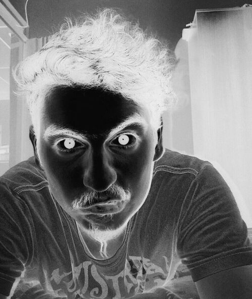 Taking Photos That's Me Myself Filter Crazy Time Blackandwhite Negative Room Pic Of The Day Mostacho
