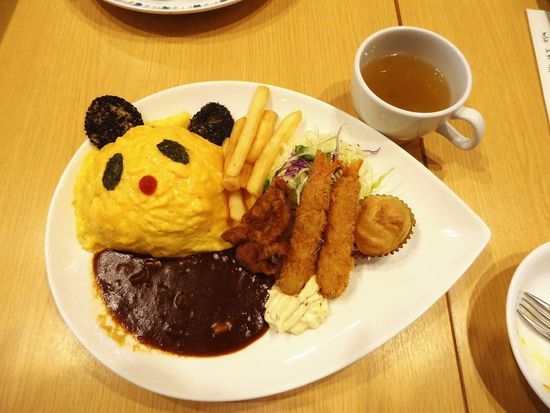 Plate Food And Drink Food Ready-to-eat Meal Panda Omurice オムライス