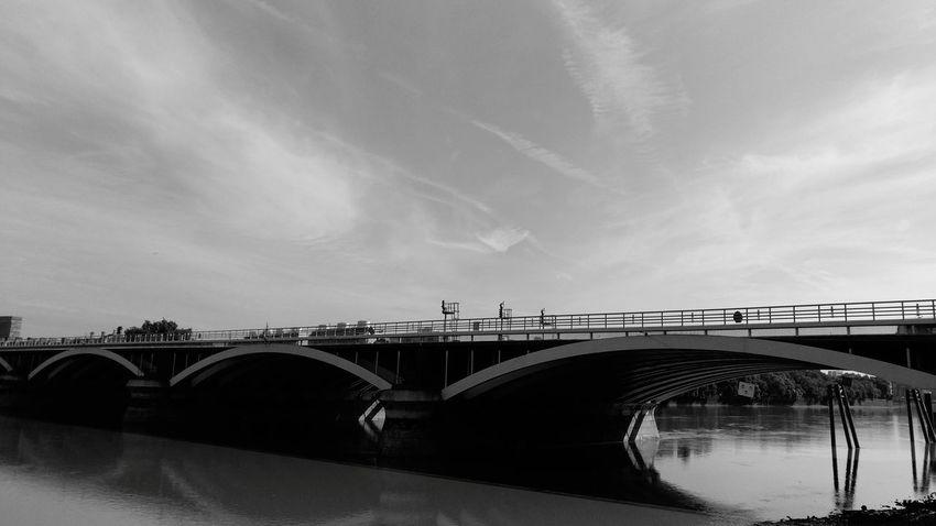 Walking Bridge - Man Made Structure Water Reflections Sky Built Structure Cloud - Sky Walking Joy Peace Memories Battersea Power Station Power