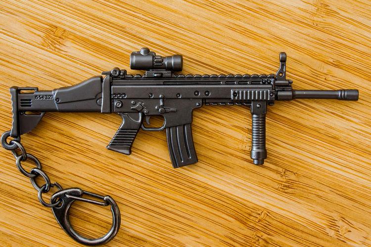 Gun KeyHolder Assault Rifles Close-up Crime Day Gun Gunporn Justice - Concept Key Holder Langbart No People Rifle Weapon