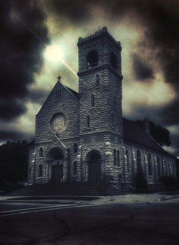 My hometown church!!! 😎🙏👍 Iowa Boone Life Death Eternity Dust Preparation  Forever Lost EyeEmNewHere Exceptional Photographs Beauty Sun Adventure Tranquility Tranquil Scene Different Outside The Box Edit Place Of Worship Spirituality History Religion Dramatic Sky Sky Architecture
