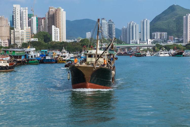 Fishing vessel in aberdeen