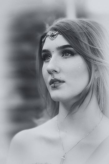 Cosplay Larp Princess Renaissance 70-200mm Nikkor D850 Nikon Blackandwhite Portrait Headshot Women Beauty Adult Young Adult One Person Beautiful Woman Females Young Women Close-up Beautiful People Looking Body Part Hairstyle Front View Human Face Contemplation